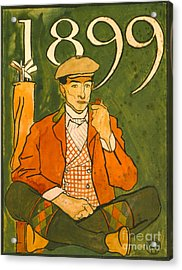 Seated Golfer 1899 Acrylic Print by Padre Art