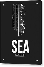 Seattle Airport Poster 1 Acrylic Print by Naxart Studio