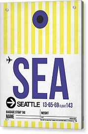Seattle Airport Poster 3 Acrylic Print by Naxart Studio