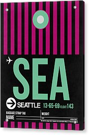 Seattle Airport Poster 4 Acrylic Print by Naxart Studio