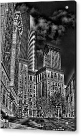 Seattle's Old And New Acrylic Print by David Patterson