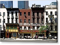 Second Avenue In New York City Acrylic Print by Linda  Parker