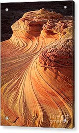 Second Wave Flow Acrylic Print by Inge Johnsson
