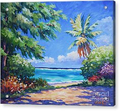 Secret Beach  Acrylic Print by John Clark