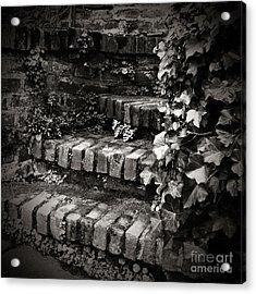 Secret Garden Stairs Acrylic Print by Charmian Vistaunet