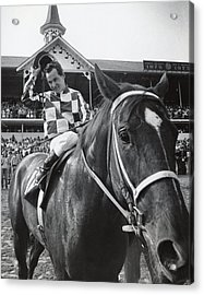 Secretariat Vintage Horse Racing #04 Acrylic Print by Retro Images Archive