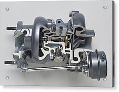 Sectioned Modern Turbocharger From An Car Acrylic Print by Dorling Kindersley/uig
