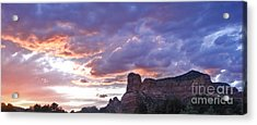 Sedona Arizona Sunset Acrylic Print by Gregory Dyer