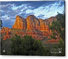 Sedona Arizona Sunset On Mountains Acrylic Print by Gregory Dyer