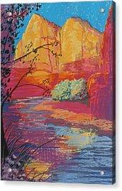 Sedona Sunrise Acrylic Print by Jann Elwood