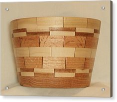 Segmented Bowl Turning-1 Acrylic Print by Russell Ellingsworth