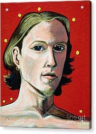 Self Portrait 1995 Acrylic Print by Feile Case