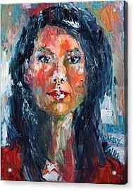 Self Portrait 2013 - 4 Acrylic Print by Becky Kim