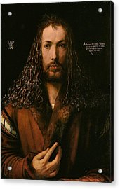 Self Portrait At The Age Of Twenty Eight 1500 Acrylic Print by Philip Ralley