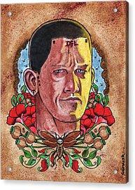 Self Portrait Acrylic Print by David Shumate
