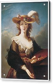 Self Portrait Acrylic Print by Marie Louise Elisabeth Vigee-Lebrun