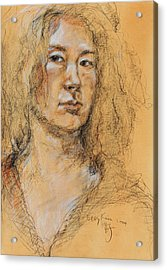 Self Portrait Of Becky Kim 2014 01 Acrylic Print by Becky Kim