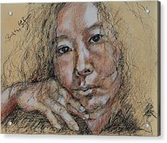 Self Portrait Of Becky Kim 2014 02 Acrylic Print by Becky Kim