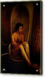 Self Portrait Of The Artist At 24 Years Of Age.  Acrylic Print by Wayne King