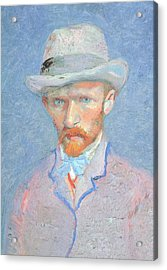 Self-portrait With Gray Felt Hat Acrylic Print by Vincent van Gogh