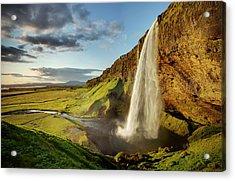 Seljalandsfoss Iceland Acrylic Print by Peter OReilly