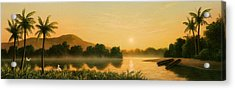 Seminole Sunset Acrylic Print by Jerry LoFaro