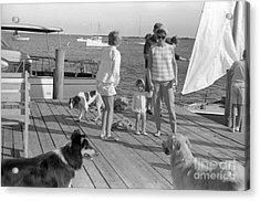 Senator John F. Kennedy And Jacqueline At The Marina Acrylic Print by The Harrington Collection