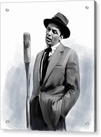 Sentimental Bliss Frank Sinatra Acrylic Print by Iconic Images Art Gallery David Pucciarelli