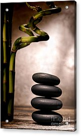 Sentimental Cairn Acrylic Print by Olivier Le Queinec