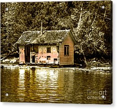 Sepia Floating House Acrylic Print by Robert Bales