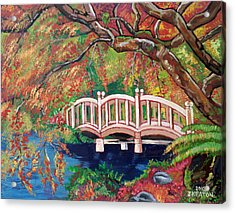 September Bridge Acrylic Print by John Keaton