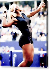 Serena Williams Catsuit Acrylic Print by Brian Reaves