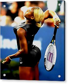 Serena Williams Catsuit II Acrylic Print by Brian Reaves