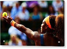 Serena Williams Acrylic Print by Srdjan Petrovic