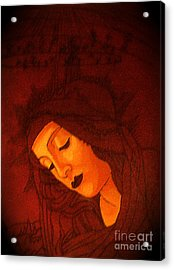 Serene Botticelli Madonna Acrylic Print by Genevieve Esson