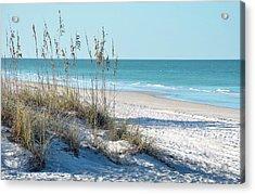 Serene Florida Beach Scene Acrylic Print by Rebecca Brittain