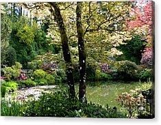 Serene Garden Retreat Acrylic Print by Carol Groenen