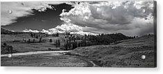 Serene Valley Acrylic Print by Jon Glaser