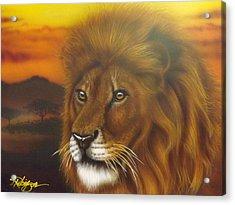 Serengeti King Acrylic Print by Darren Robinson