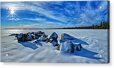 Serenity In Snow Acrylic Print by Bill Caldwell -        ABeautifulSky Photography