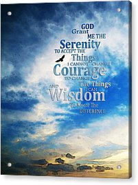 Serenity Prayer 3 - By Sharon Cummings Acrylic Print by Sharon Cummings