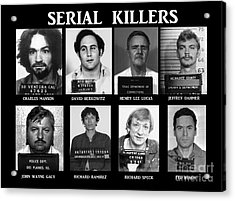 Serial Killers - Public Enemies Acrylic Print by Paul Ward
