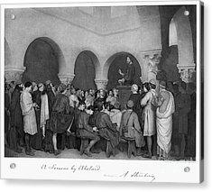 Sermon By Abelard Acrylic Print by Granger