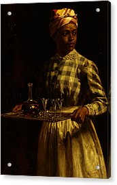 Serving Maid Acrylic Print by Thomas Waterman Wood