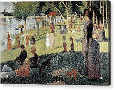 Seurat, Georges 1859-1891. An Afternoon Acrylic Print by Everett