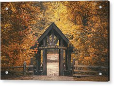 Seven Bridges Trail Head Acrylic Print by Scott Norris