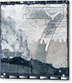 Seven On Blue Acrylic Print by Carol Leigh