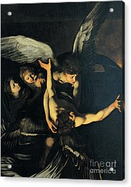 Seven Works Of Mercy Acrylic Print by Caravaggio