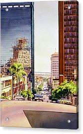 Seventh Avenue In San Diego Acrylic Print by Mary Helmreich