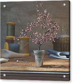 Sew Tiny Acrylic Print by Cynthia Decker